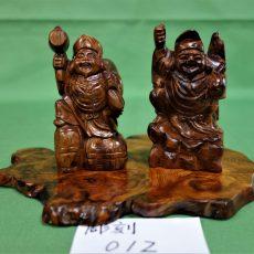 木製の恵比寿大黒様